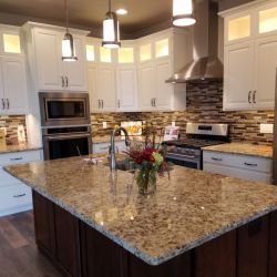 Kitchen   White Cab and Tan Granite  78 800 600 80